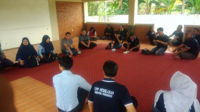 Dinas Perikanan dan UPP Perikanan Kabupaten Pringsewu Sambangi UPP Mina Kahuripan Kabupaten Bogor